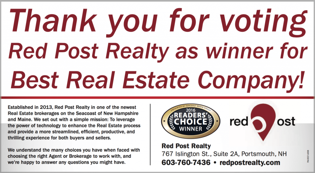 Red Post Realty Voted Best Real Estate Company in Seacoast! - Red